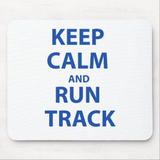 Keep Calm and Run Track Mousepads