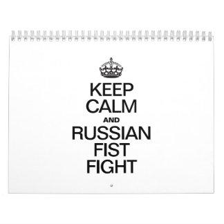 KEEP CALM AND RUSSIAN FIST FIGHT CALENDAR