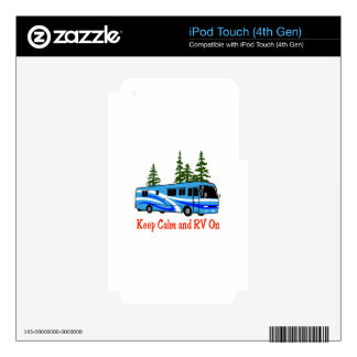 Keep Calm And RV On iPod Touch 4G Decals