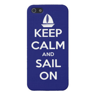 Keep Calm and Sail On Blue Case For iPhone SE/5/5s