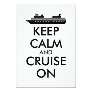 Keep Calm and Sail On Cruise Ship Custom Card