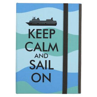 Keep Calm and Sail On Cruise Ship Custom iPad Air Covers
