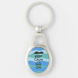 Keep Calm and Sail On Cruise Ship Custom Keychain