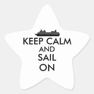 Keep Calm and Sail On Cruise Ship Custom Star Sticker