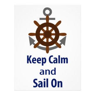 KEEP CALM AND SAIL ON LETTERHEAD