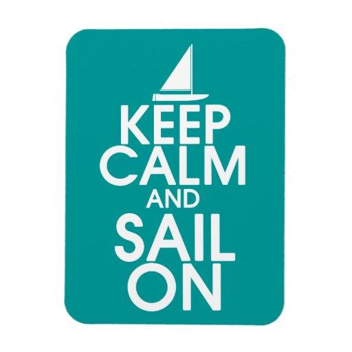 Keep Calm and Sail On Premium Magnet