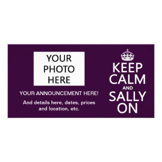 Keep Calm and Sally On (any color) Card