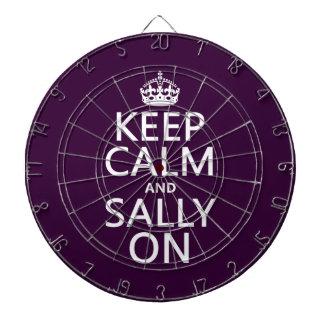 Keep Calm and Sally On (any color) Dartboard