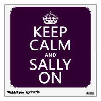 Keep Calm and Sally On (any color) Wall Decor