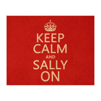 Keep Calm and Sally On Photo Cork Paper