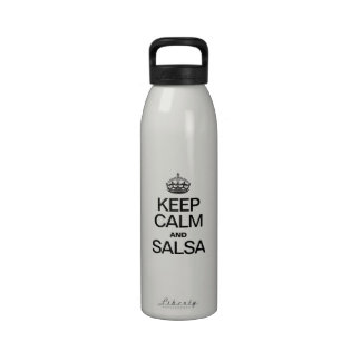KEEP CALM AND SALSA WATER BOTTLE
