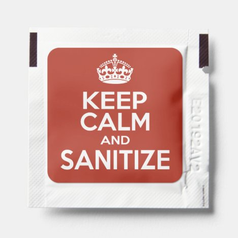 Keep Calm and Sanitize Hand Sanitizer Packet