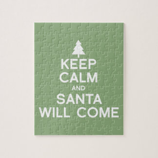 KEEP CALM AND SANTA WILL COME JIGSAW PUZZLE