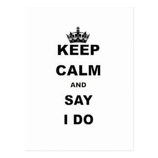 KEEP CALM AND SAT I DO.png Postcard