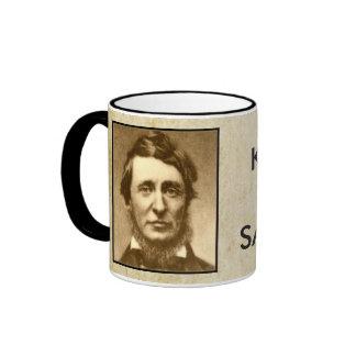 Keep Calm and Saunter On Thoreau Mug - style 2