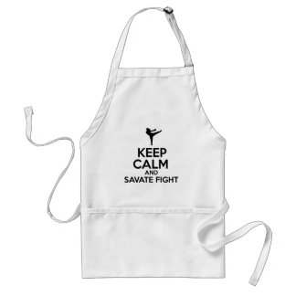 Keep Calm And Savate Fight Adult Apron
