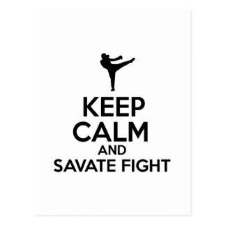 Keep Calm And Savate Fight Postcard