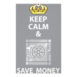Keep Calm and Save Money vector Stationery