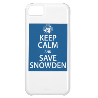 Keep Calm and Save Snowden iPhone 5C Cases