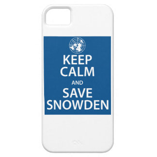 Keep Calm and Save Snowden iPhone 5 Covers