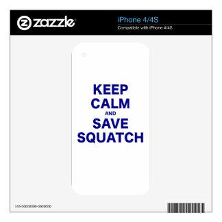 Keep Calm and Save Squatch Decal For The iPhone 4
