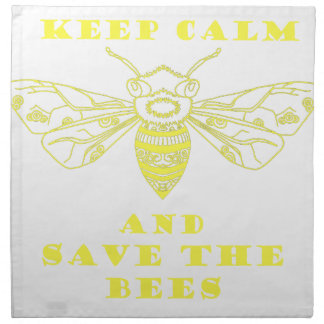 Keep Calm and Save the Bees Cloth Napkin