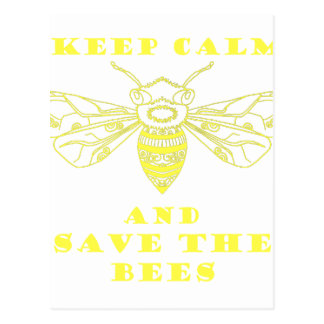 Keep Calm and Save the Bees Postcard