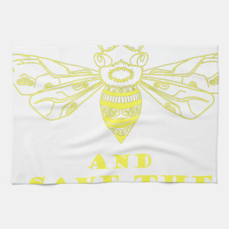 Keep Calm and Save the Bees Towel