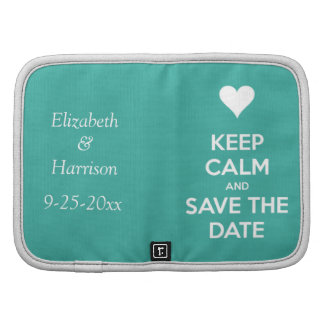 Keep Calm and Save the Date Blue Personalized Organizer