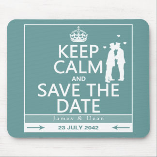 Keep Calm and Save the Date (fully customizable) Mouse Pad