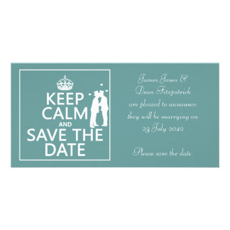 Keep Calm and Save the Date (fully customizable) Photo Card