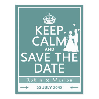 Keep Calm and Save the Date (fully customizable) Postcard