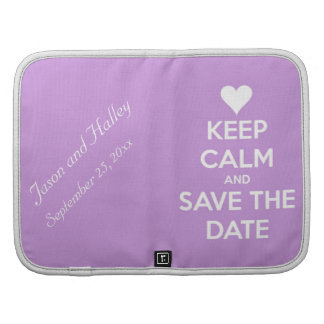 Keep Calm and Save the Date Lavender Planner