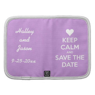 Keep Calm and Save the Date Lavender Planners