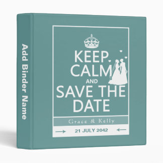Keep Calm and Save The Date Lesbian Wedding 3 Ring Binder