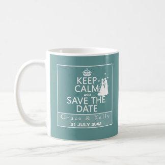 Keep Calm and Save The Date Lesbian Wedding Mug