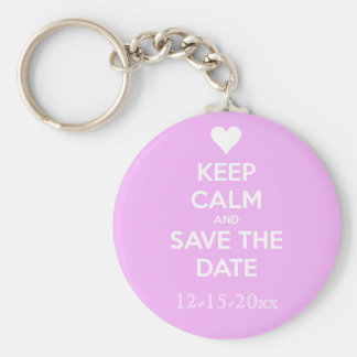 Keep Calm and Save the Date Personalized Keychain