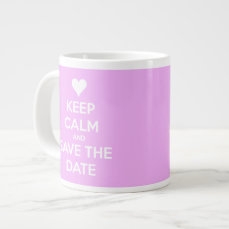 Keep Calm and Save the Date Personalized Pink Mug