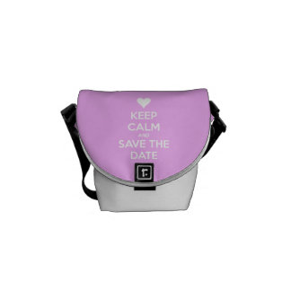 Keep Calm and Save the Date Pink Messenger Bag