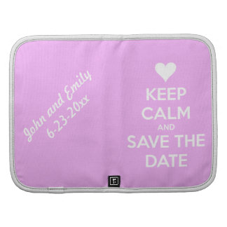 Keep Calm and Save the Date Pink Organizer