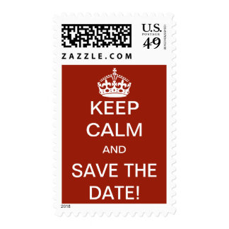 Keep Calm and Save the Date! Postage