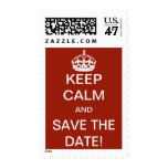 Keep Calm and Save the Date! Postage Stamp