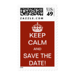 Keep Calm and Save the Date! Stamps
