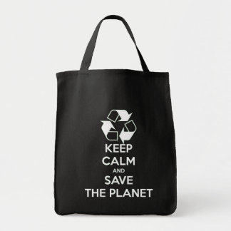 Keep calm and save the planet tote bag