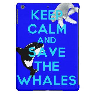 Keep Calm and Save the Whales (iPad Air case) Case For iPad Air