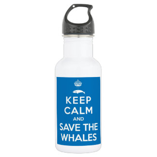 Keep Calm and Save the Whales 18oz Water Bottle