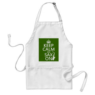 Keep Calm and Sax (saxophone) On (any color) Apron