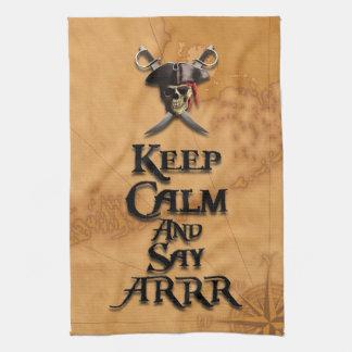 Keep Calm And Say ARRR Hand Towel