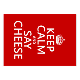 Keep Calm and Say Cheese (photography)(any color) Large Business Cards (Pack Of 100)