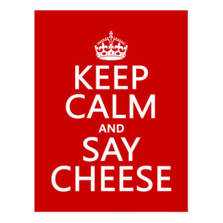 Keep Calm and Say Cheese (photography)(any color) Post Cards